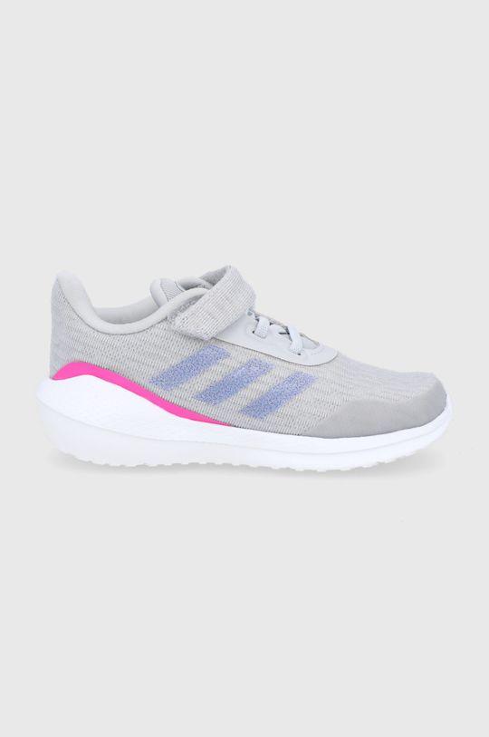 šedá adidas Performance - Dětské boty Run El I Dívčí
