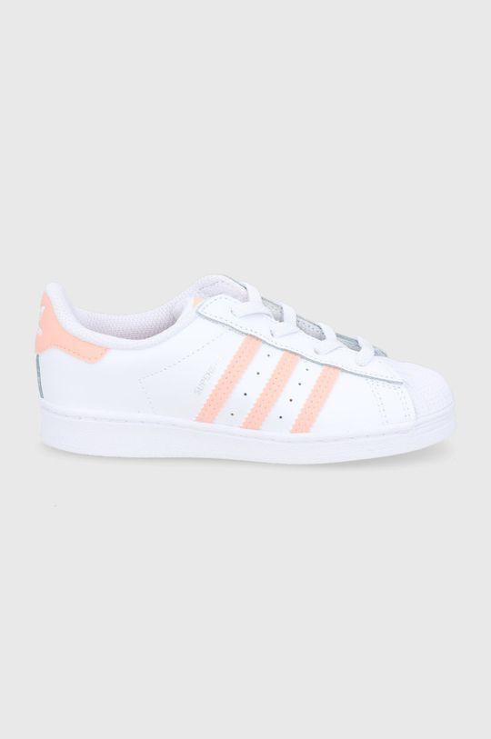 biały adidas Originals - Buty dziecięce SUPERSTAR EL I Dziewczęcy