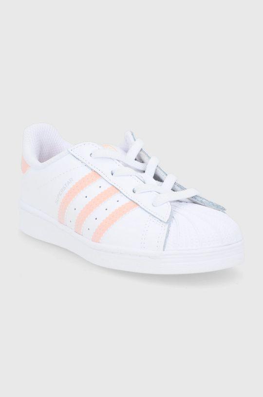 adidas Originals - Buty dziecięce SUPERSTAR EL I biały