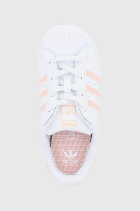 biały adidas Originals - Buty dziecięce SUPERSTAR EL I