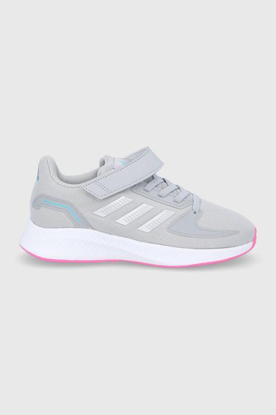 šedá adidas - Dětské boty Runfalcon 2.0 Dívčí