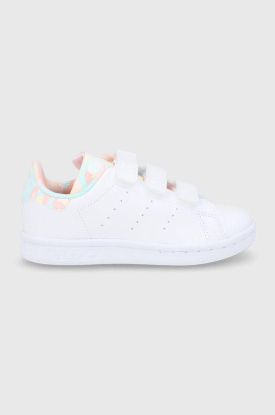 bílá adidas Originals - Dětské boty STAN SMITH CF C Dívčí
