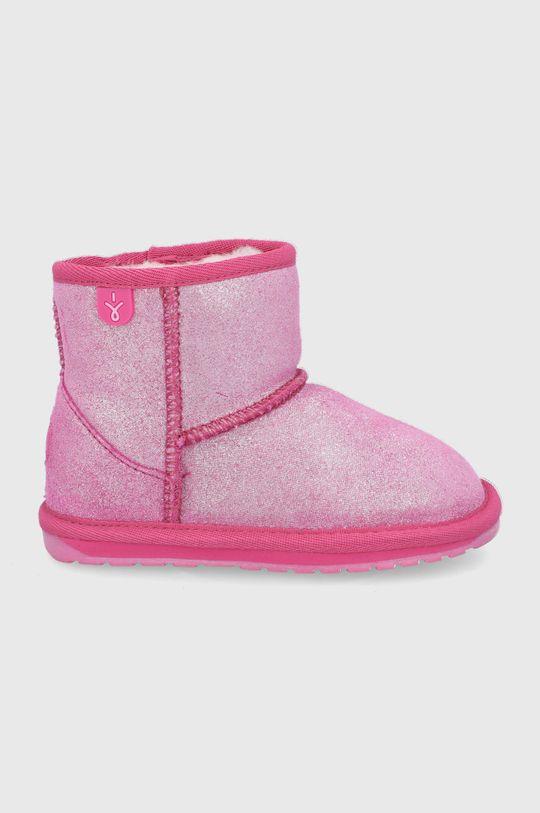 bledofialový Emu Australia - Zimné topánky Wallaby Mini Metallic Dievčenský