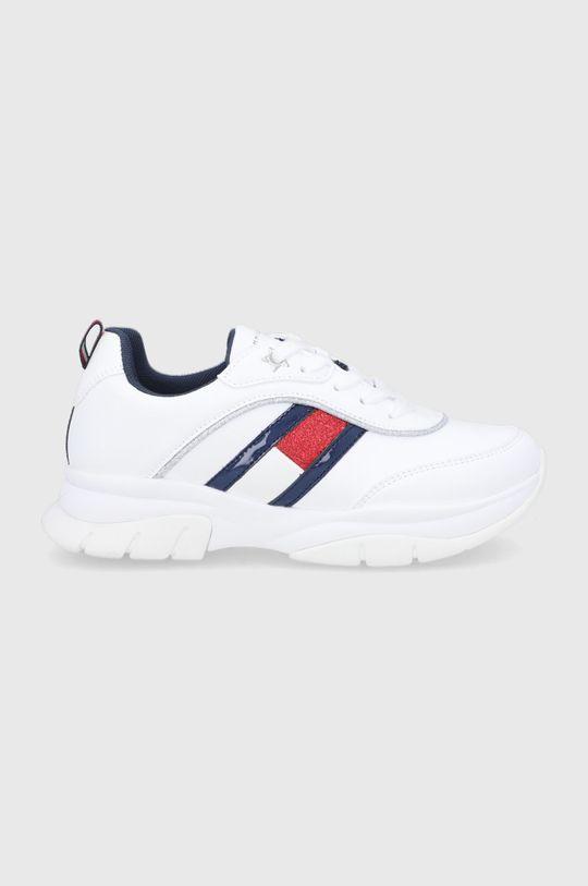biały Tommy Hilfiger - Buty dziecięce Dziewczęcy