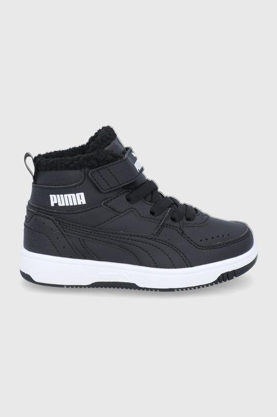 czarny Puma - Buty dziecięce Rebound Joy Fur Dziewczęcy