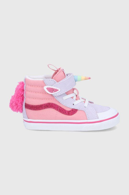 różowy Vans - Trampki dziecięce Dziewczęcy
