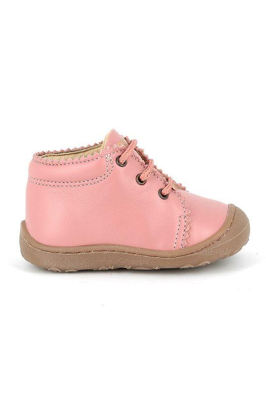 roz Primigi - incaltaminte din piele pentru copii De fete