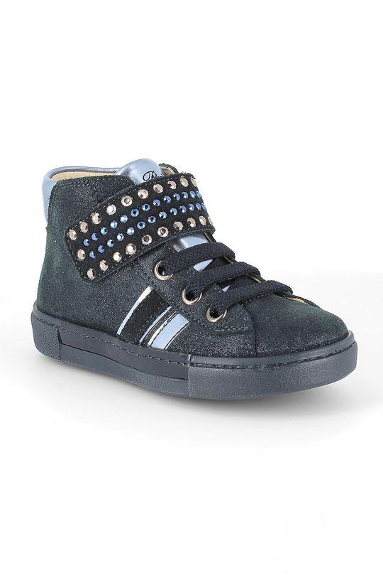 Primigi - Pantofi din piele intoarsa pentru copii bleumarin