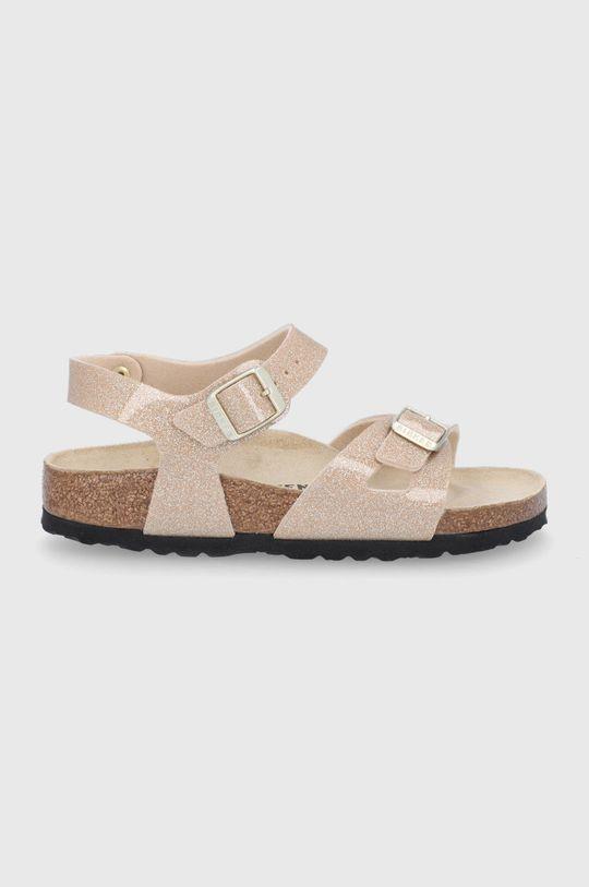 zlatá Birkenstock - Dětské sandály Rio Dívčí