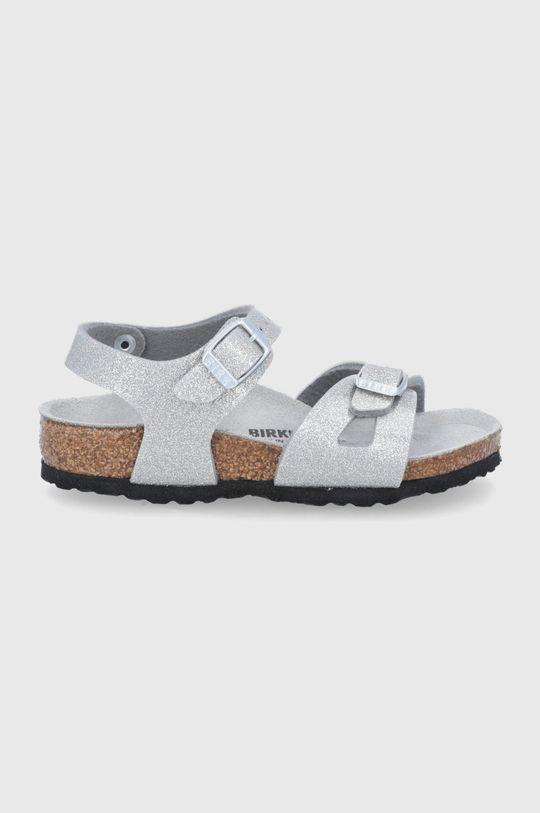 stříbrná Birkenstock - Sandály Rio Dívčí
