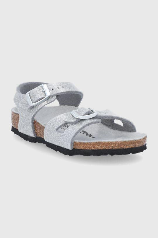 Birkenstock - Sandály Rio stříbrná