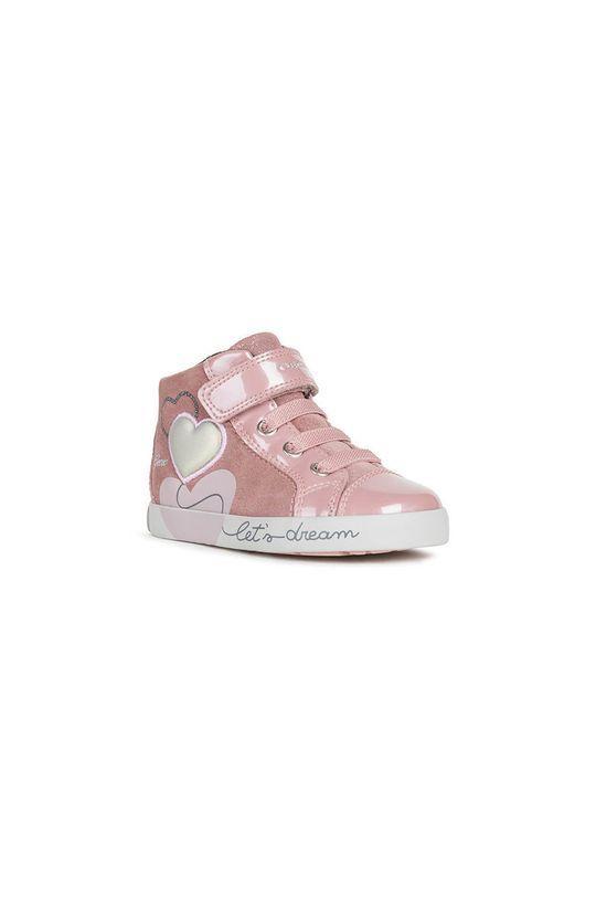 Geox - Pantofi copii roz murdar