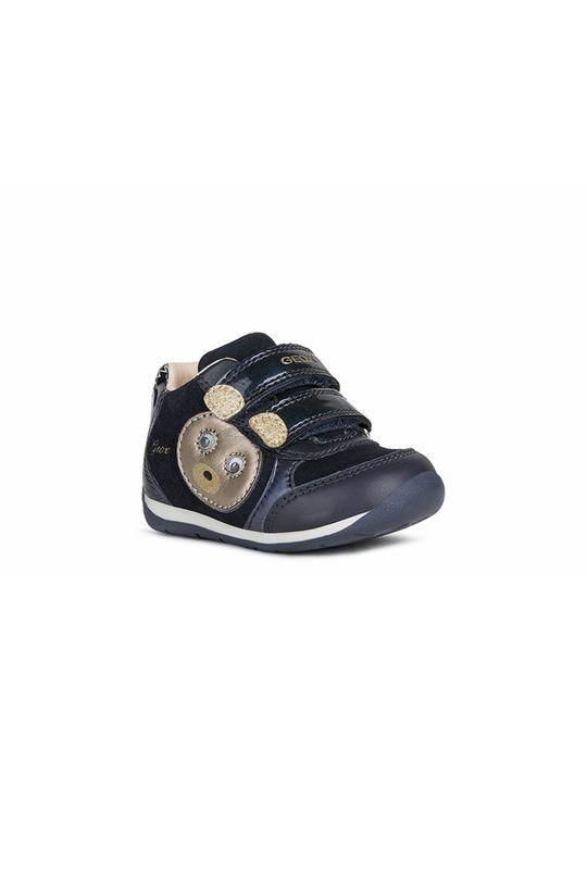 Geox - Παιδικά δερμάτινα παπούτσια σκούρο μπλε