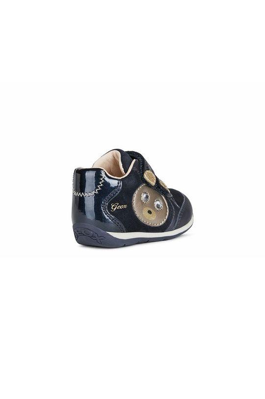 σκούρο μπλε Geox - Παιδικά δερμάτινα παπούτσια