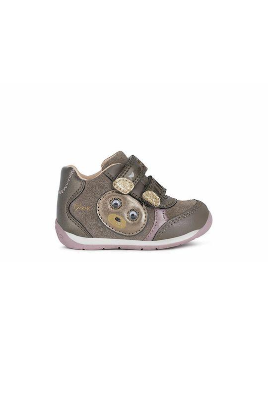 γκρί Geox - Παιδικά δερμάτινα παπούτσια Για κορίτσια