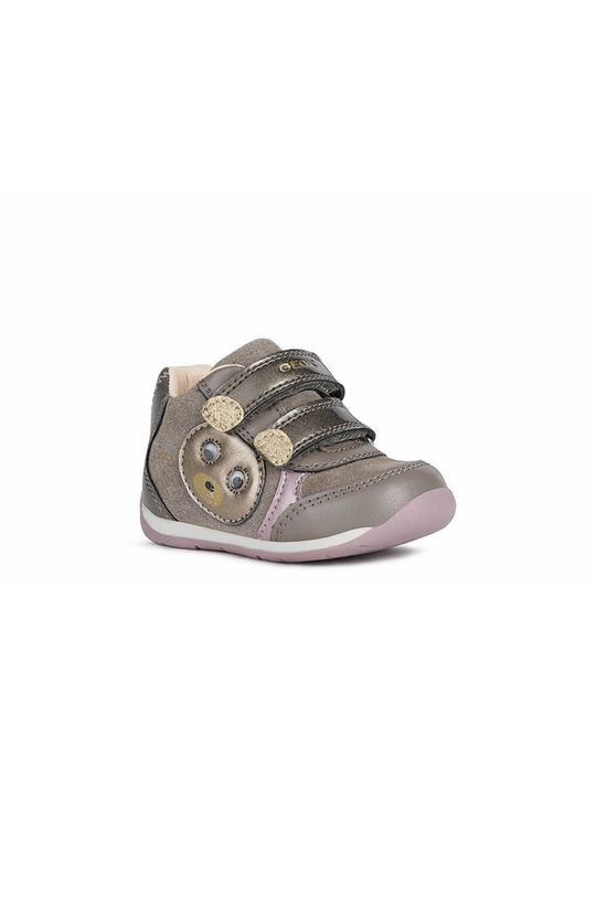 Geox - Παιδικά δερμάτινα παπούτσια γκρί