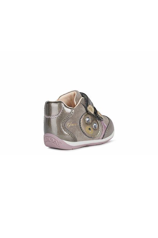 γκρί Geox - Παιδικά δερμάτινα παπούτσια
