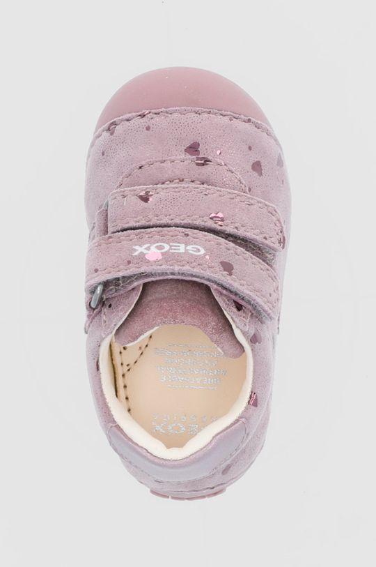 ružová Geox - Detské kožené poltopánky