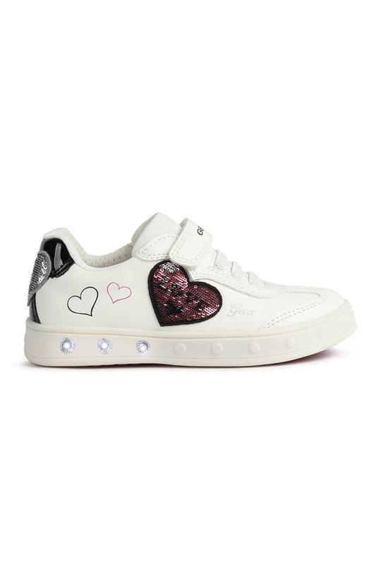 biały Geox - Buty dziecięce Dziewczęcy