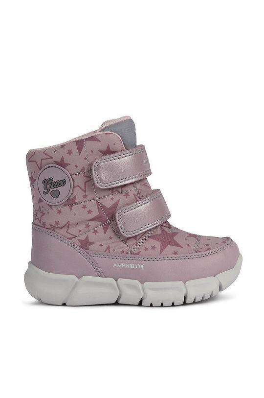 różowy Geox - Śniegowce dziecięce Dziewczęcy