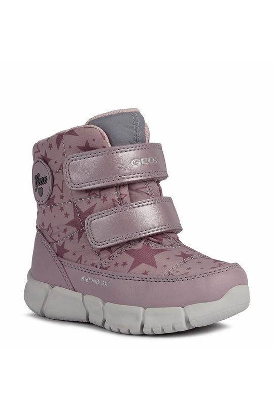 Geox - Śniegowce dziecięce różowy