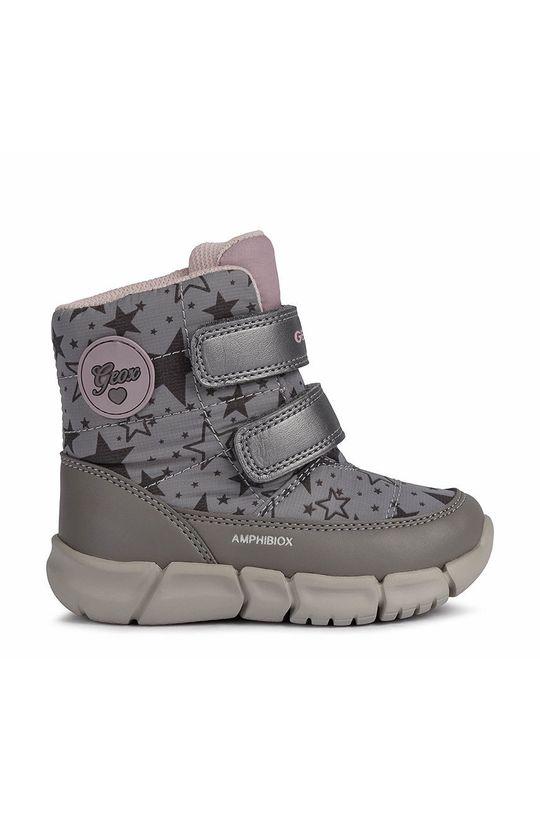 ανοιχτό γκρι Geox - Παιδικές μπότες χιονιού Για κορίτσια