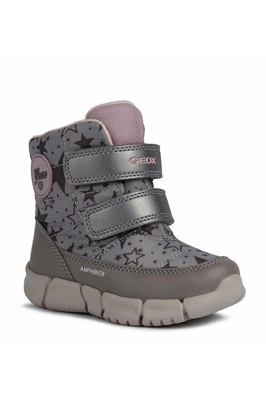 Geox - Παιδικές μπότες χιονιού ανοιχτό γκρι