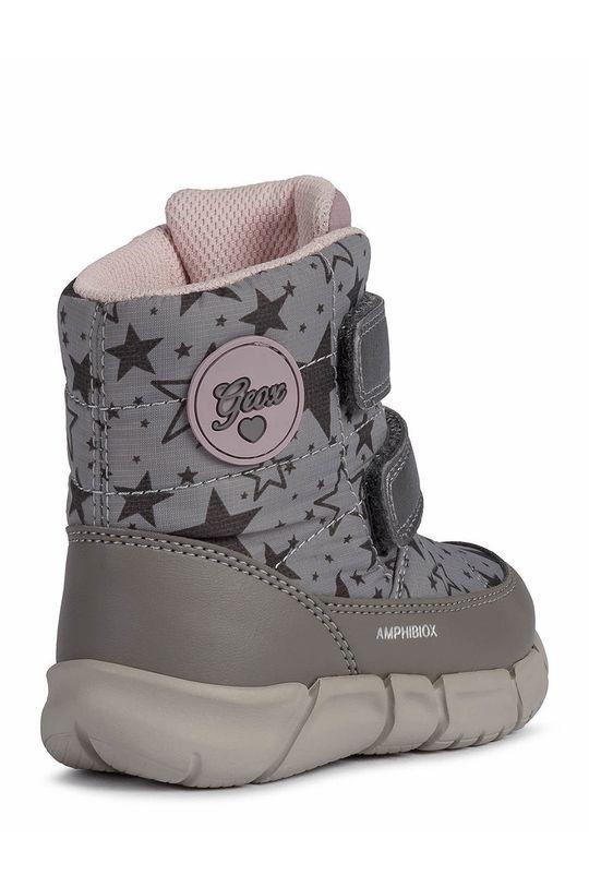 ανοιχτό γκρι Geox - Παιδικές μπότες χιονιού