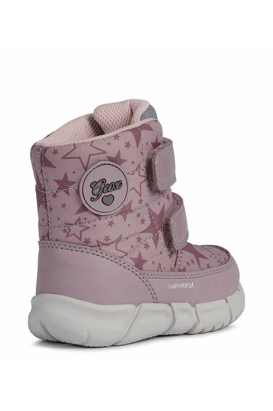 ροζ Geox - Παιδικές μπότες χιονιού