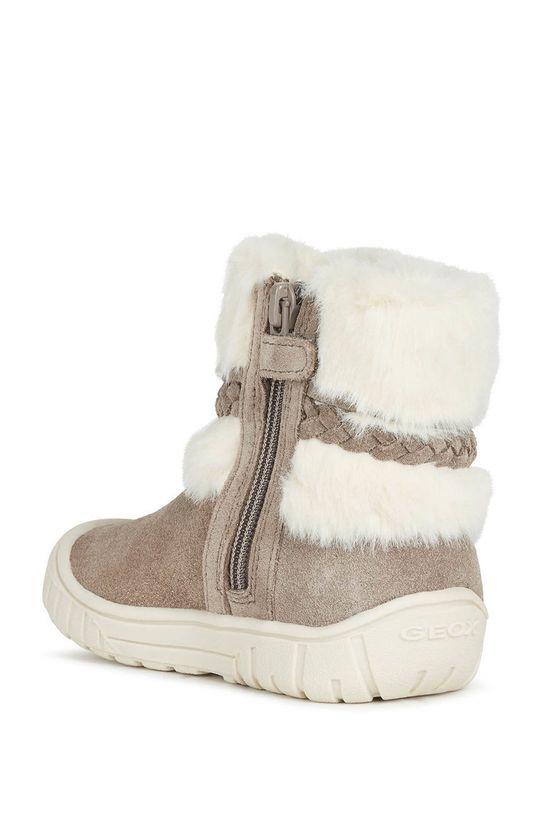 Geox - Śniegowce zamszowe dziecięce Cholewka: Skóra naturalna, Wnętrze: Materiał tekstylny, Podeszwa: Materiał syntetyczny