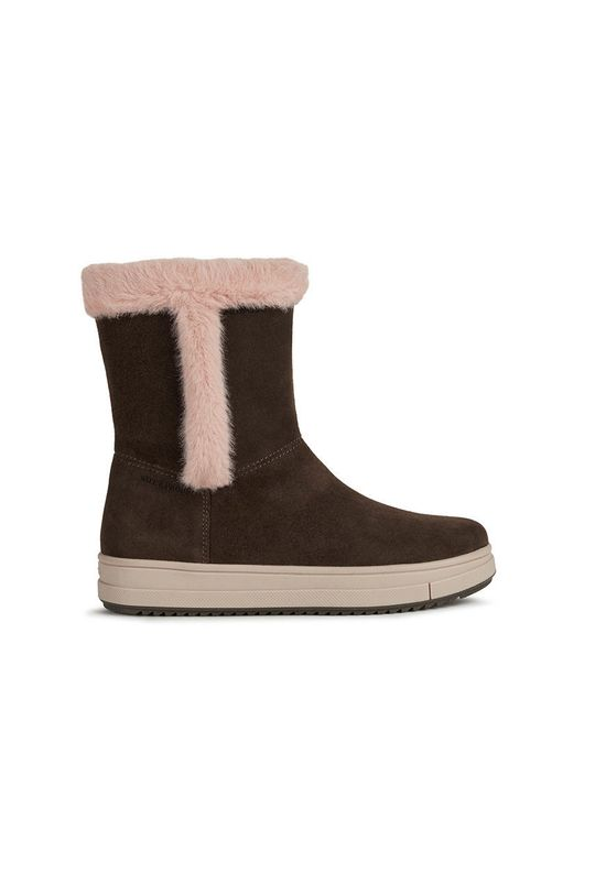 castan Geox - Pantofi din piele intoarsa pentru copii De fete