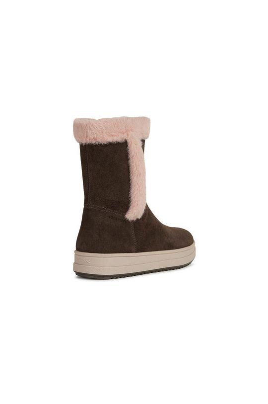 castan Geox - Pantofi din piele intoarsa pentru copii