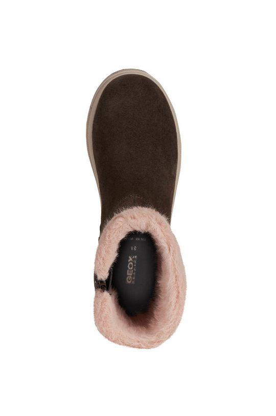 Geox - Pantofi din piele intoarsa pentru copii De fete
