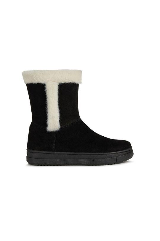 negru Geox - Pantofi din piele intoarsa pentru copii De fete