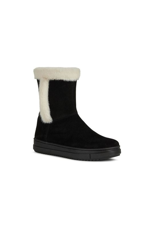 Geox - Pantofi din piele intoarsa pentru copii negru