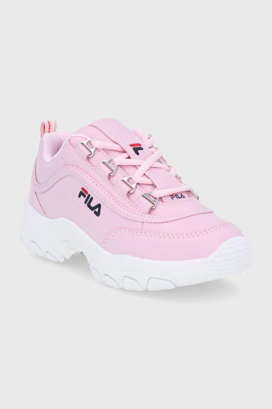 Fila - Buty dziecięce Strada low różowy