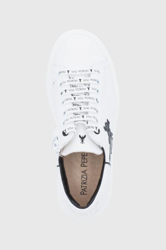 biały Patrizia Pepe - Buty skórzane dziecięce