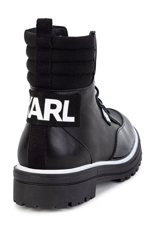 czarny Karl Lagerfeld - Workery dziecięce