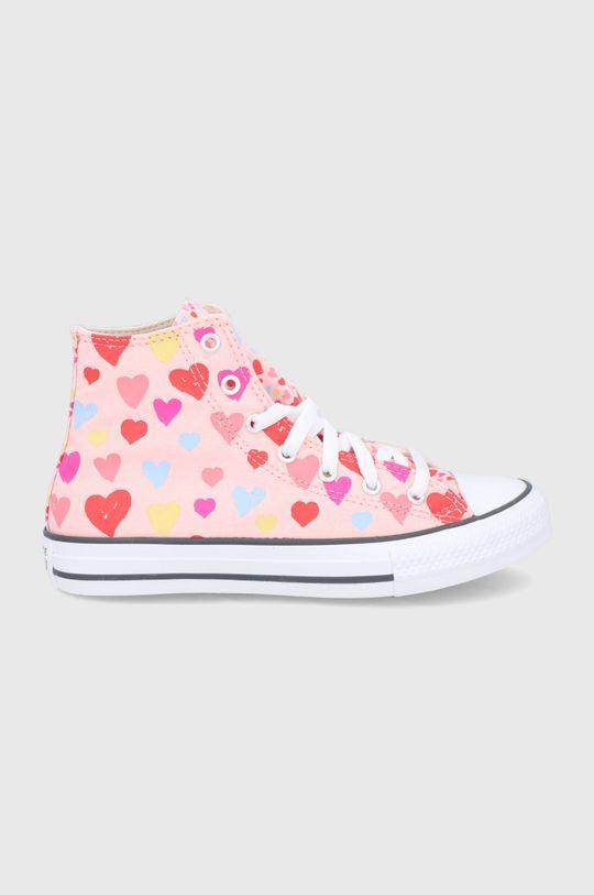 brudny róż Converse - Trampki dziecięce Dziewczęcy