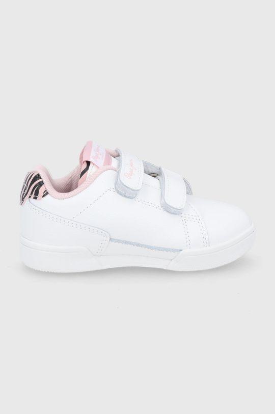 biały Pepe Jeans - Buty skórzane dziecięce Lambert Zebra Dziewczęcy