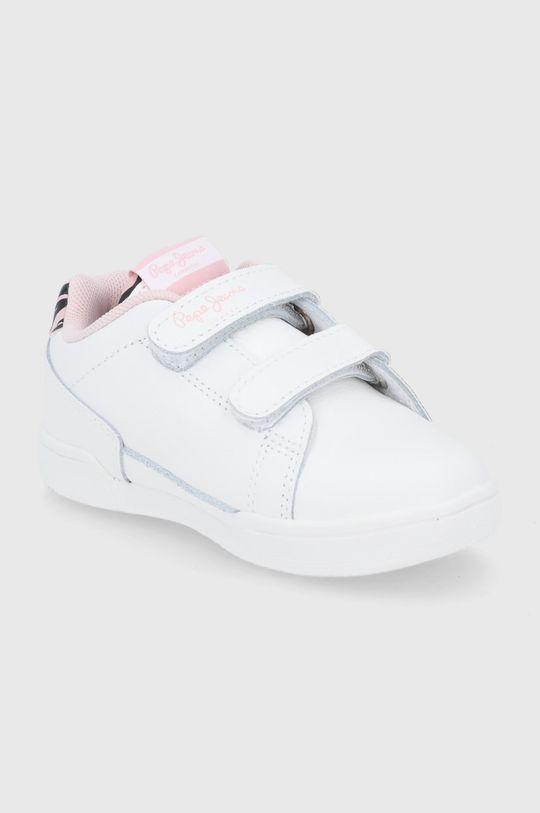 Pepe Jeans - Buty skórzane dziecięce Lambert Zebra biały