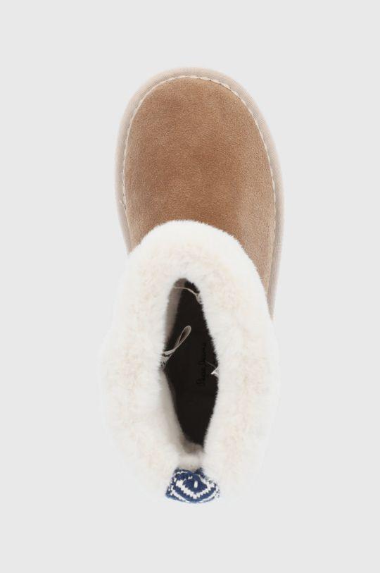 złoty brąz Pepe Jeans - Śniegowce zamszowe Angel