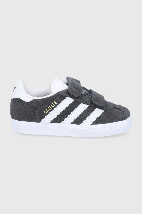 šedá adidas Originals - Dětské semišové boty Gazelle Dětský