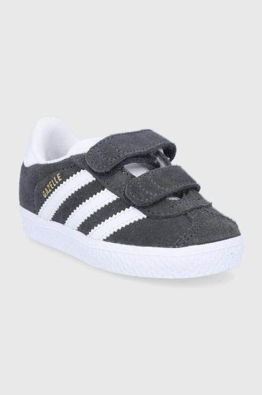 adidas Originals - Dětské semišové boty Gazelle šedá