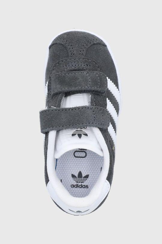 šedá adidas Originals - Dětské semišové boty Gazelle
