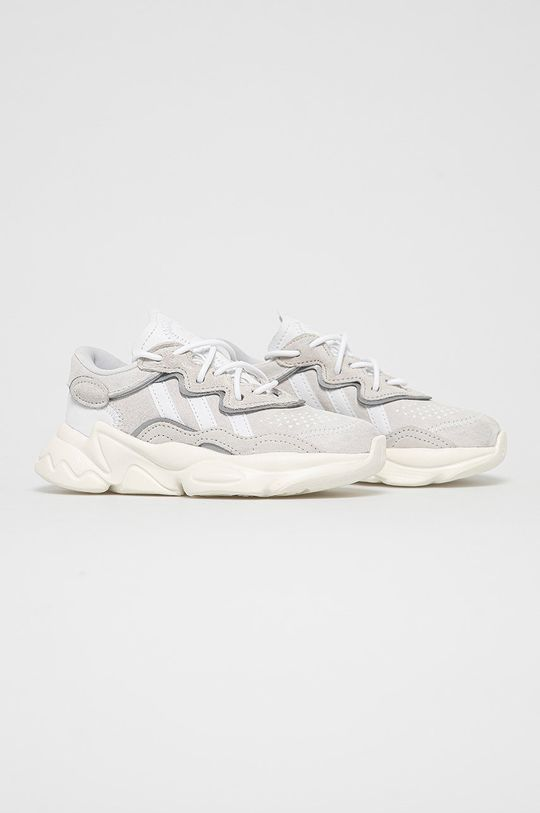 adidas Originals - Kožená obuv Ozweego C sivá