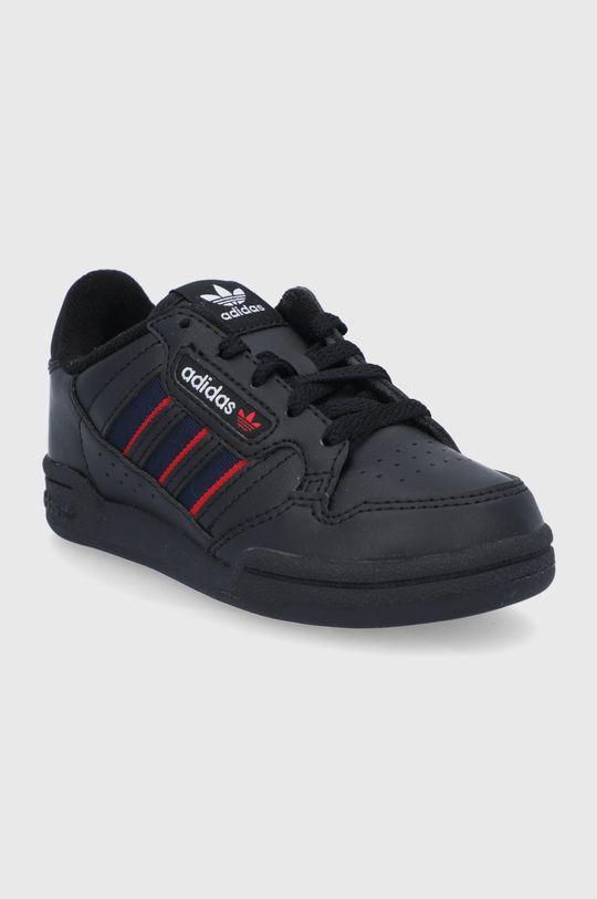adidas Originals - Dětské boty Continental 80 Stripes černá