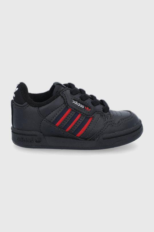 černá adidas Originals - Dětské boty Continental 80 Stripes Dětský