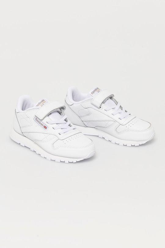Reebok Classic - Pantofi copii CL LTHR 1V alb