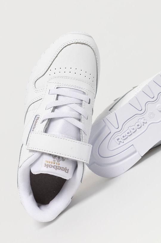 alb Reebok Classic - Pantofi copii CL LTHR 1V
